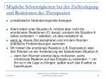 m gliche schwierigkeiten bei der zielfestlegung und reaktionen des therapeuten