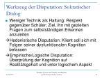 werkzeug der disputation sokratischer dialog