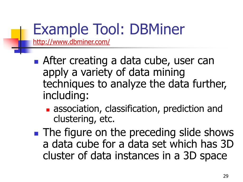Example Tool: DBMiner
