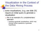 visualization in the context of t he data mining process11