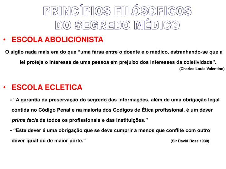 PRINCÍPIOS FILÓSOFICOS
