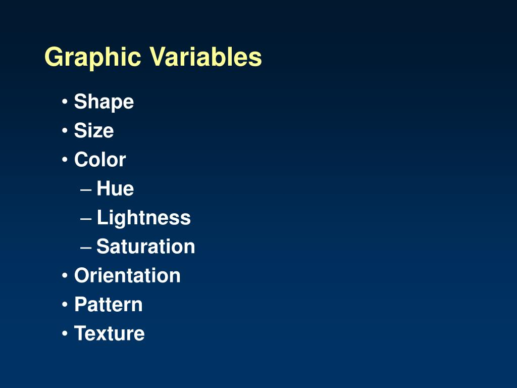 Graphic Variables