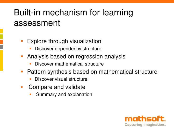 Built-in mechanism for learning assessment