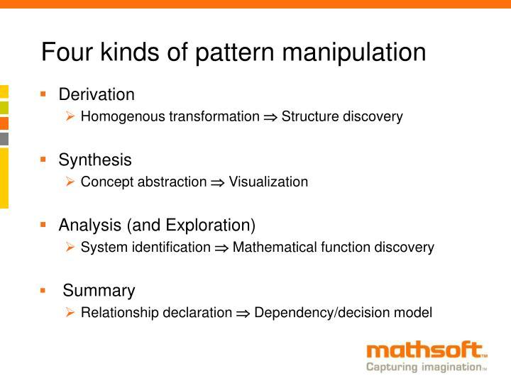 Four kinds of pattern manipulation