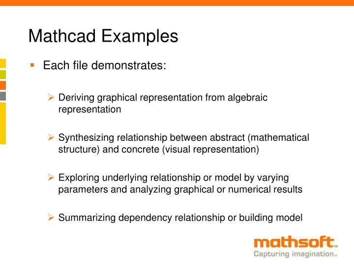 Mathcad Examples