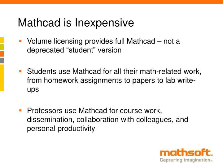 Mathcad is Inexpensive