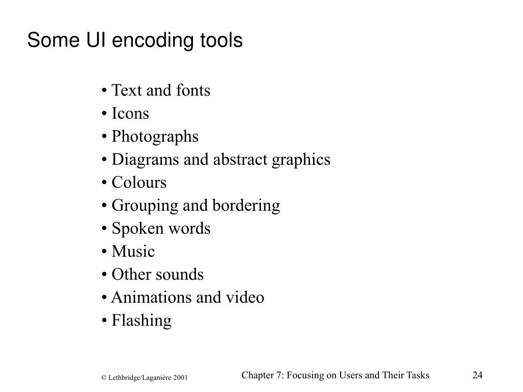 Some UI encoding tools