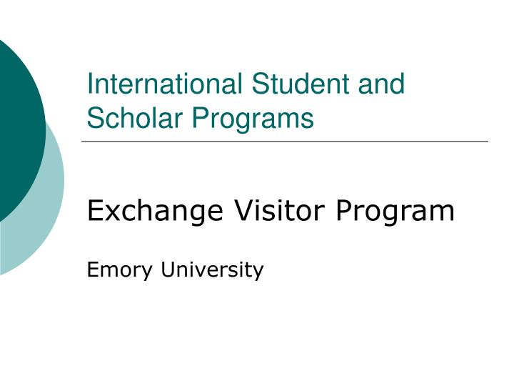 international student and scholar programs n.