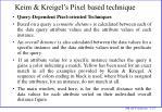 keim kreigel s pixel based technique