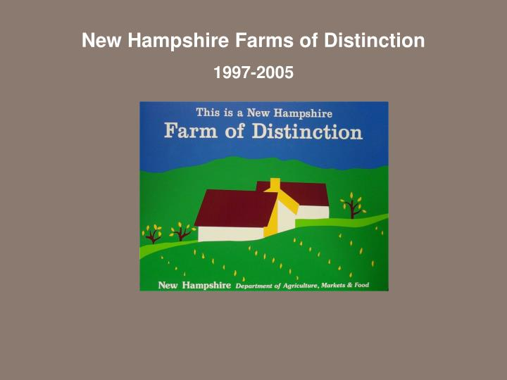 New Hampshire Farms of Distinction