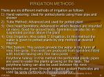 irrigation methods