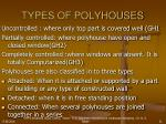 types of polyhouses21