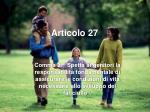 articolo 27