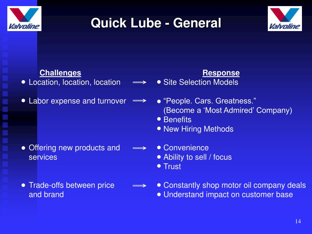 Quick Lube - General