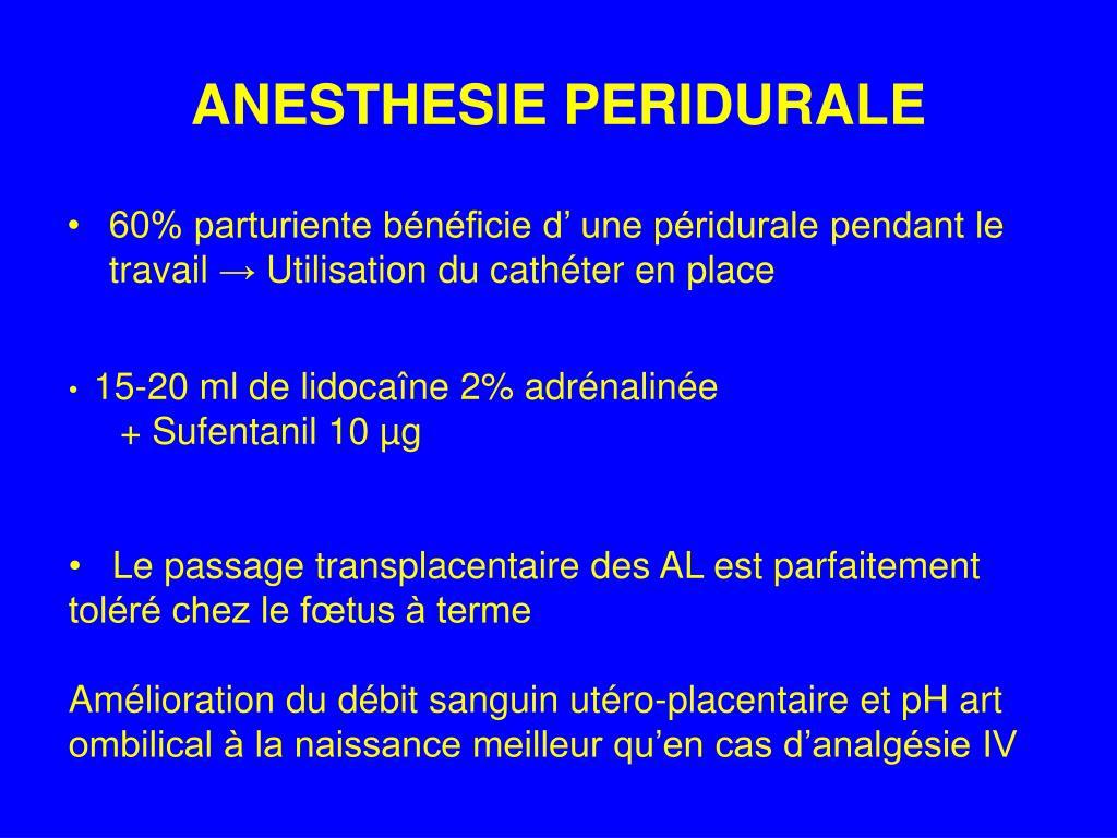 PPT - ANESTHESIE POUR CESARIENNE PowerPoint Presentation..