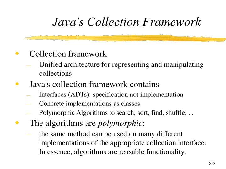 Java s collection framework