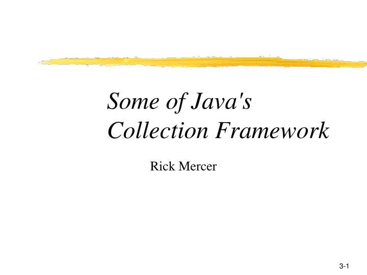 some of java s collection framework n.