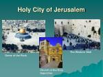 holy city of jerusalem
