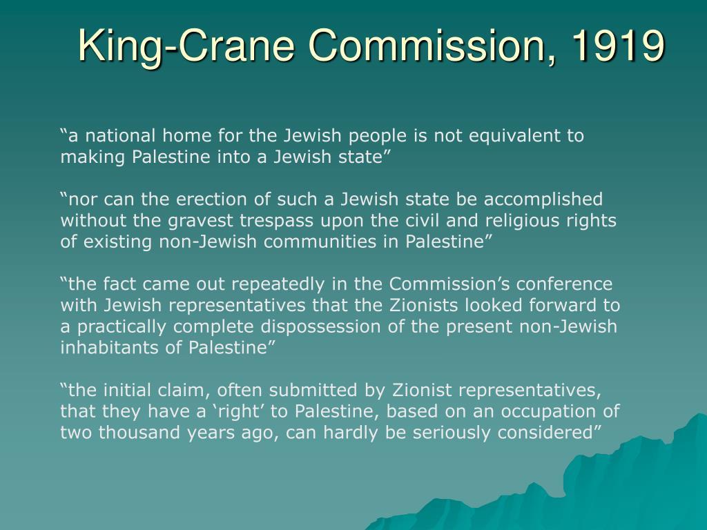 King-Crane Commission, 1919