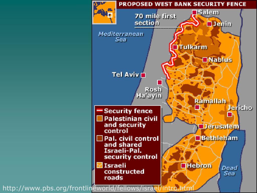 http://www.pbs.org/frontlineworld/fellows/israel/intro.html