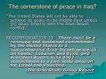 the cornerstone of peace in iraq