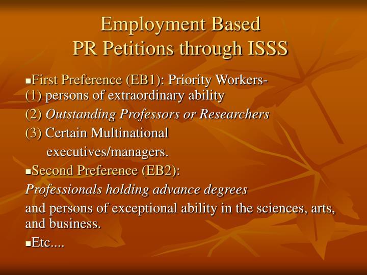 Employment Based