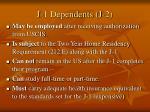 j 1 dependents j 2