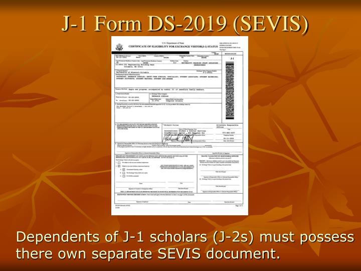 J-1 Form DS-2019 (SEVIS)