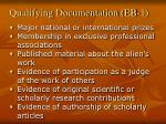 qualifying documentation eb 1