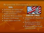 responsible government agencies