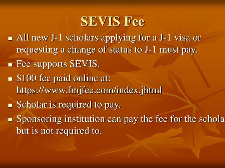 SEVIS Fee