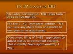 the pr process for eb2