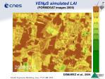ven s simulated lai formosat images 2006