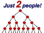 just 2 people