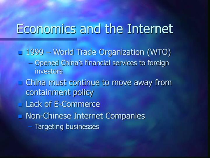 Economics and the Internet