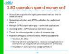2 5g operators spend money on