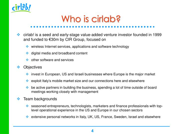 Who is cirlab?