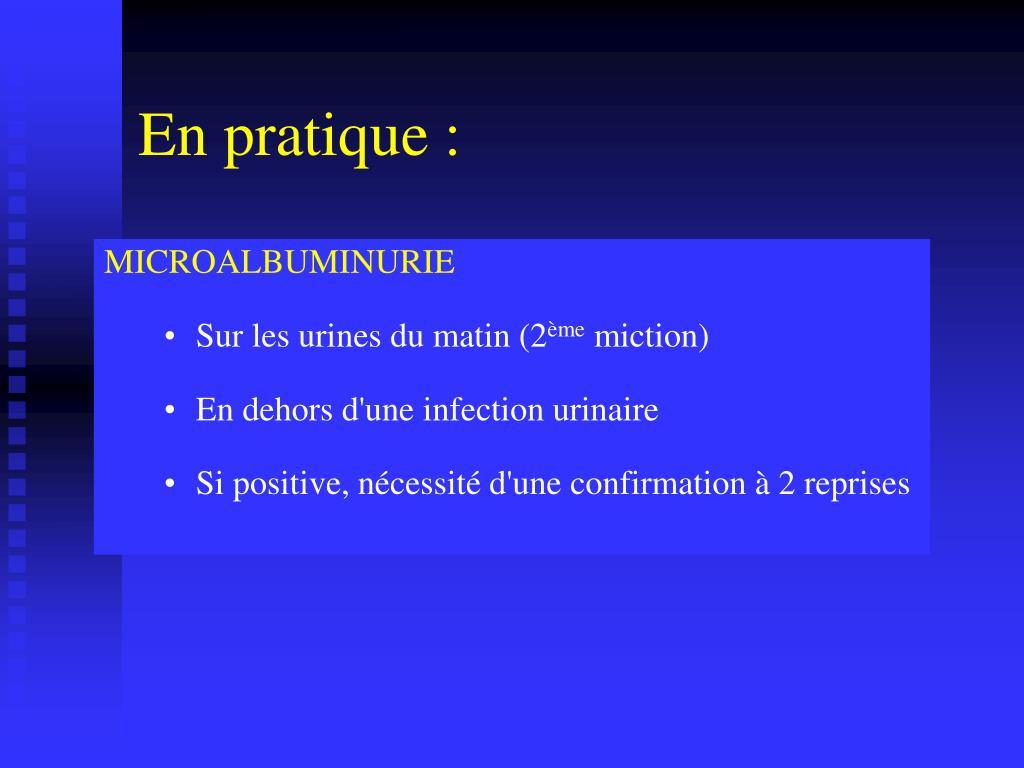 PPT - Excrétion urinaire d'Albumine (EUA..