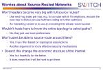 worries about source routed networks