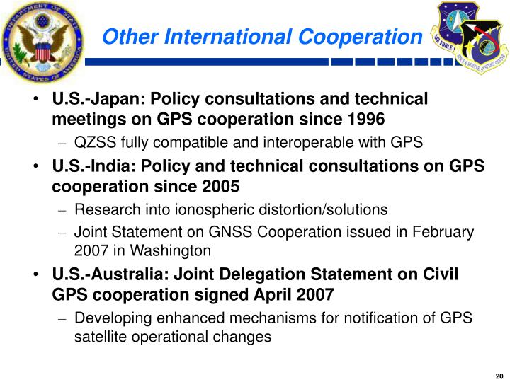Other International Cooperation