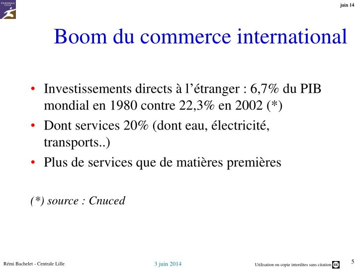 Boom du commerce international