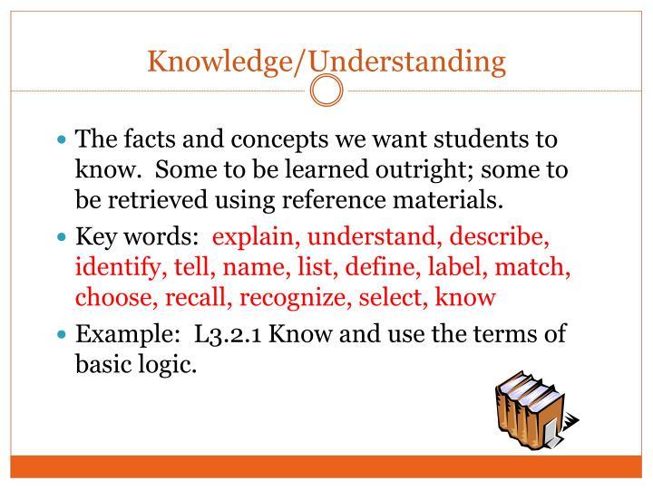 Knowledge/Understanding