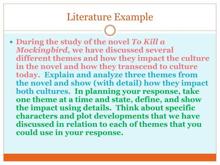 Literature Example