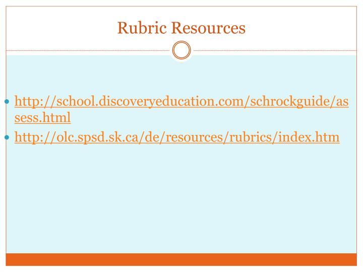 Rubric Resources
