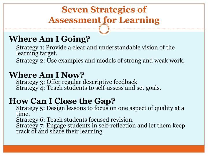 Seven Strategies of