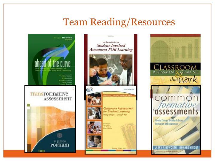 Team Reading/Resources