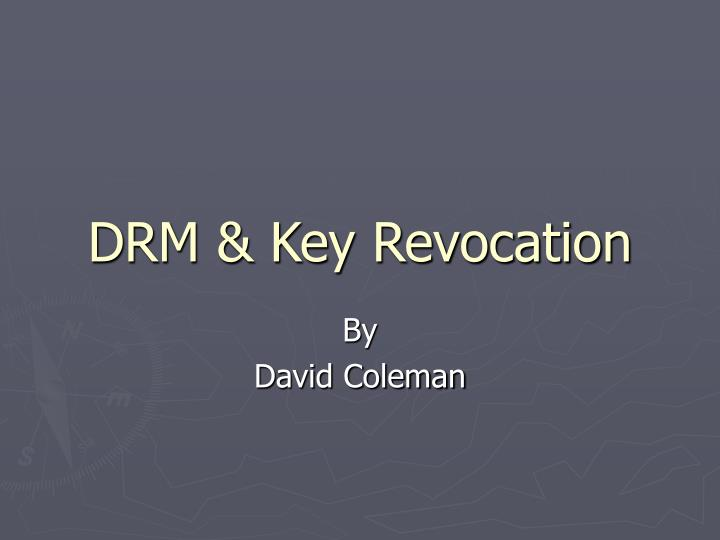 Drm key revocation