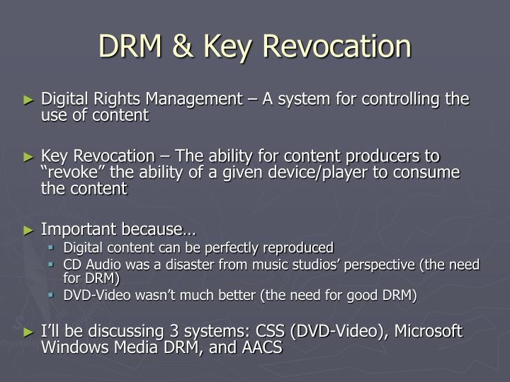 Drm key revocation1