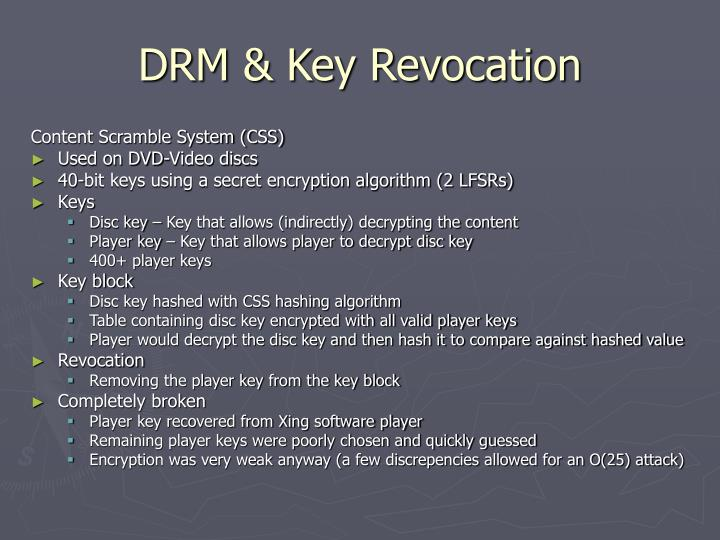 Drm key revocation2