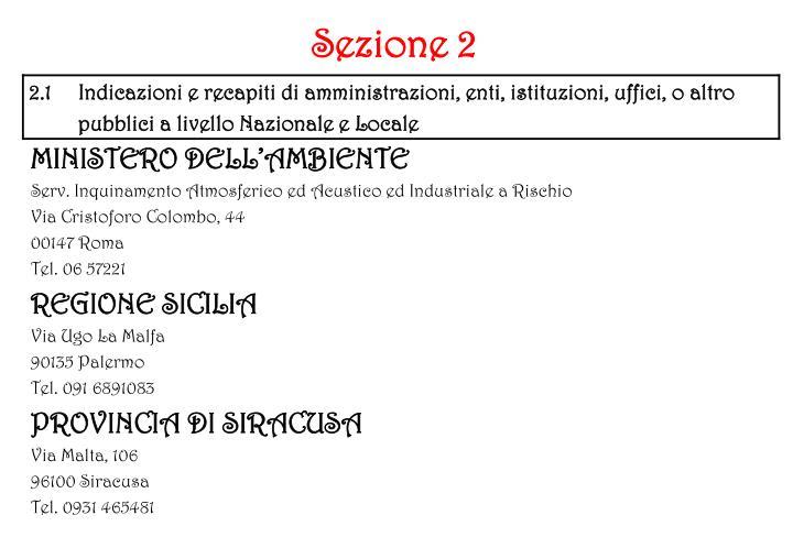 Sezione 2